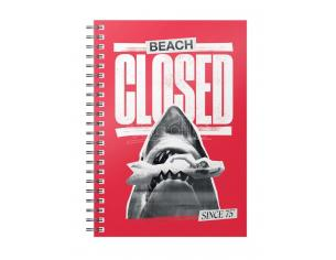 SD TOYS JAWS BEACH CLOSED SINCE 1975 NOTEBOOK TACCUINO