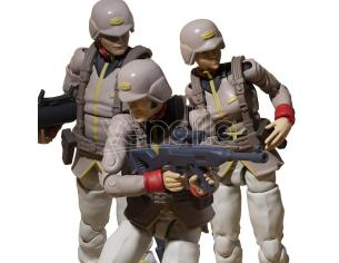 MEGAHOUSE MS GUNDAM EARTH UNITED ARMY SOLDIER SET ACTION FIGURE