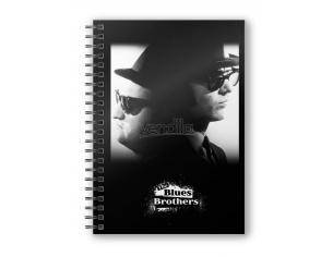 SD TOYS THE BLUES BROTHERS B&W SPIRAL NOTEBOOK TACCUINO