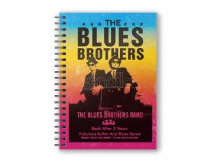 SD TOYS THE BLUES BROTHERS BAND SPIRAL NOTEBOOK TACCUINO