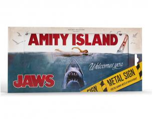 DOCTOR COLLECTOR JAWS METAL SIGN REPLICA