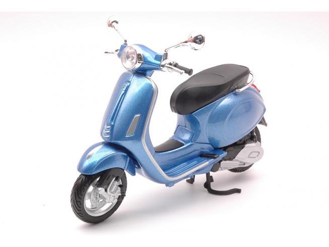 MAISTO MI32721B VESPA PRIMAVERA 150 BLUE 1:12 Modellino