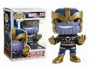 Marvel Natale Funko POP Super EroiVinile Figura Thanos Vacanze 9 cm