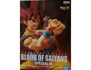 Dragon Ball Statua Super Saiyan Son Goku Sangue Special VI Figura 17cm Banpresto
