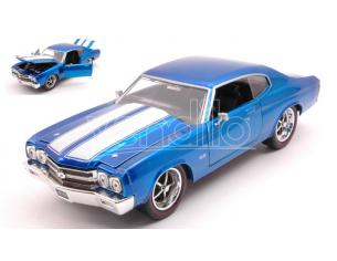 Jada Toys Jada31450b Chevy Chevelle Ss 1970 Metallolic Blue W/white Stripes 1:24 Modellino