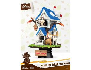 Chip e Chop Disney Figura Casa sull'Albero Diorama 16 cm Beast Kingdom