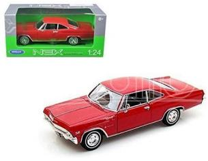 WELLY WE22417R CHEVROLET IMPALA SS 396 RED 1:24-27 Modellino
