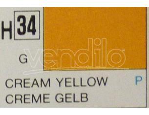 Gunze GU0034 CREAM YELLOW GLOSS ml 10 Pz.6 Modellino