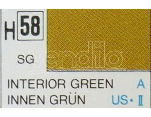 Gunze GU0058 INTERIOR GREEN SEMI-GLOSS ml 10 Pz.6 Modellino