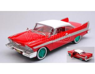 Greenlight GREEN84071GR PLYMOUTH FURY 1958 CHRISTINE GREEN WHEELS 1:24 Modellino