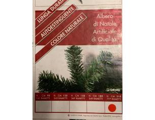GALVAS ALBERO DI NATALE ARTIFICIALE AUTOESTINGUENTE 210 CM ADDOBBI NATALE