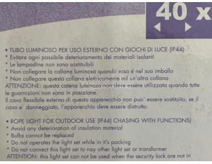 DECORAZIONE LUMINOSA PVC WINNIE THE POOH WINNIE CON SACCO 60 CM ADDOBBI NATALE