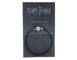Harry Potter Black Leather Ciondolo Braccialetto The Carat Shop