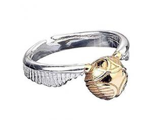 Harry Potter Golden Snitch steel ring The Carat Shop