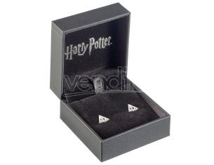 Harry Potter Deathly Hallows silver earrings The Carat Shop