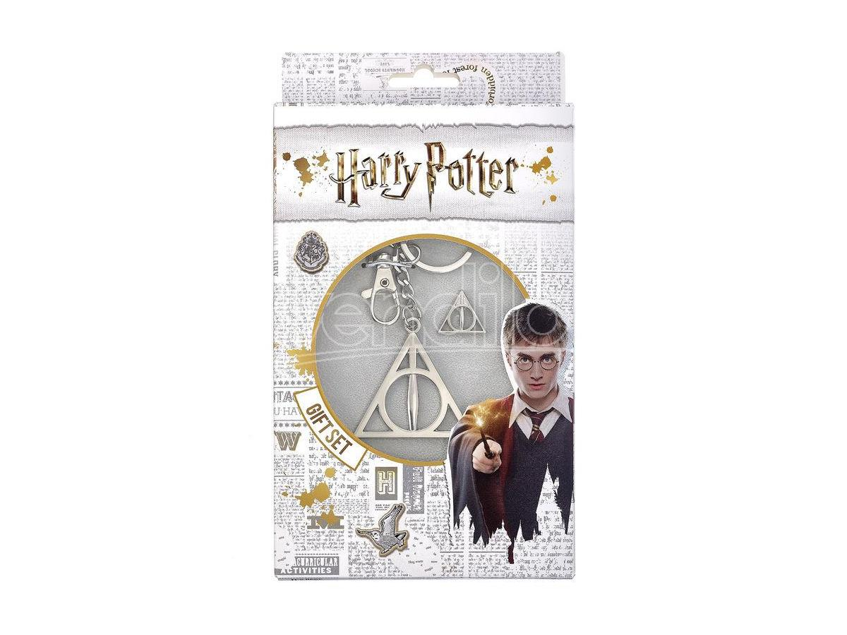 Harry Potter Set Portachiavi e Spilla Doni Della Morte The Carat Shop