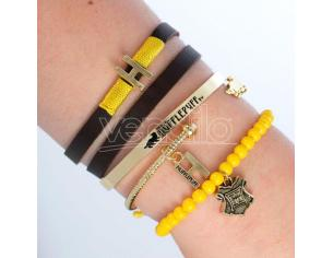 Harry Potter Tassorosso bracelets set Bioworld