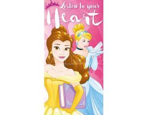 Disney Princess Listen To Your Heart Cotone Asciugamano Bambino Licensing