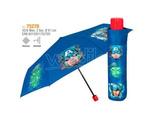 Marvel Avengers manual folding umbrella 50cm Perletti