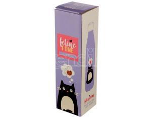 Feline Cat Stainless Steel Bottiglia 500ml