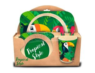 Tropical Style Toucan Kitchenware Set Bambino Licensing