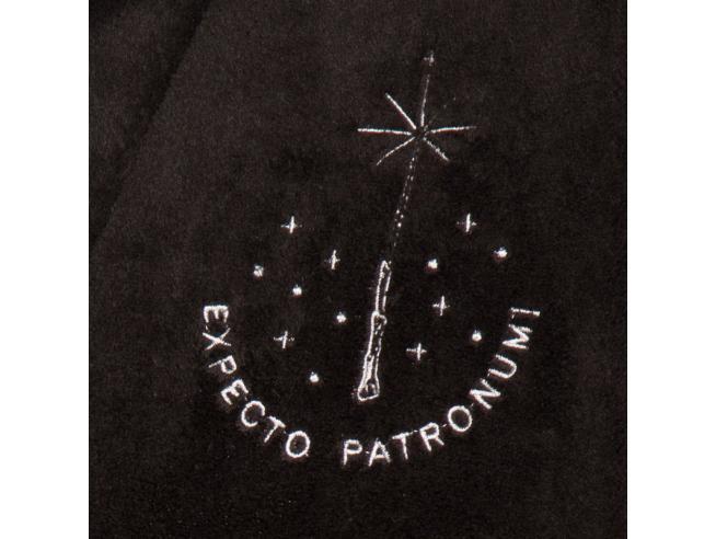 Harry Potter Accappatoio Nero con Patronus da Donna Taglia Unica Groovy