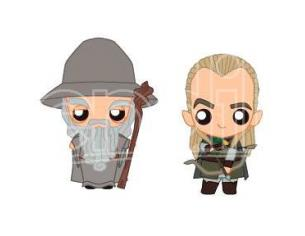 The Lord of the Rings Gandalf & Legolas set 2 Pokis figures Sd Toys