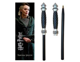Harry Potter Narcissa Malfoy Wand Pen E Segnalibro Noble Collection