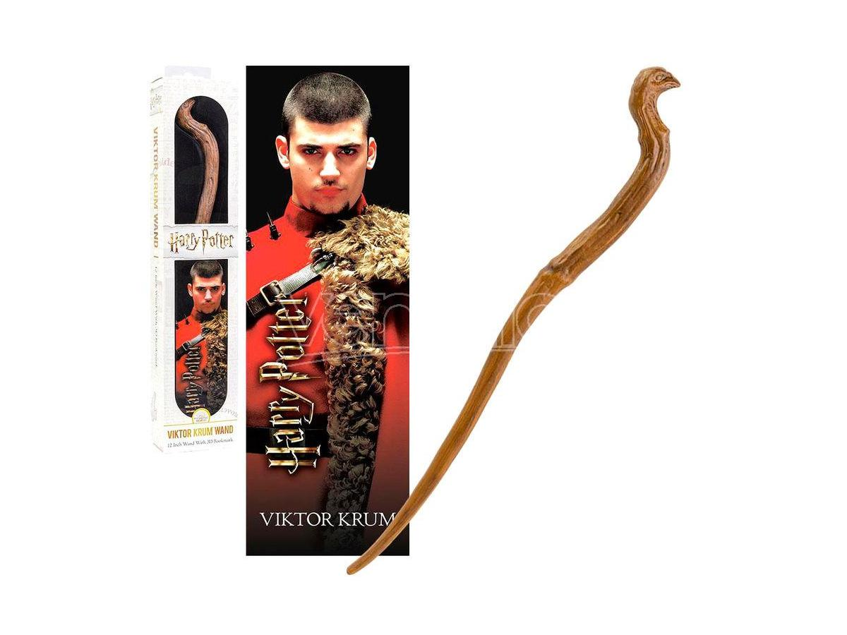 Harry Potter Bacchetta Magica Viktor Krum + Segnalibro 3D Noble Collection