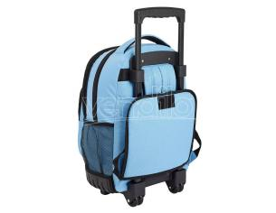 Blackfit8 Blue compact trolley 45cm Safta
