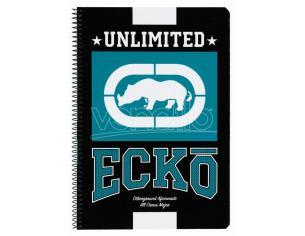 Ecko Unltd Black A4 Agenda 80 Fogli Hard Cover Assortiti Safta