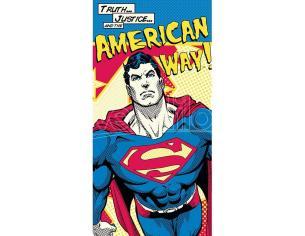 Dc Superman American Way Cotone Asciugamano Bambino Licensing