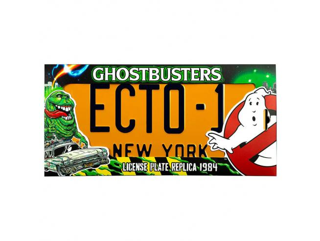 Ghostbustoers Ecto 1 Number Plate Replica Doctor Collector