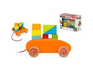 Wooden blocks cart 9pzs Play & Learn