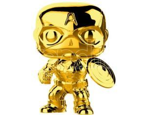 POP figure Marvel Studios 10 Captain America Gold Chrome Funko