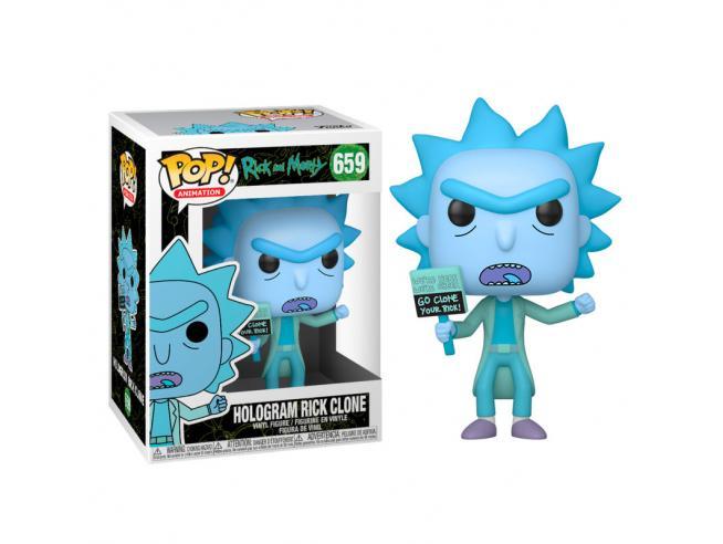 Pop Figura Rick & Morty Hologram Rick Clone Funko