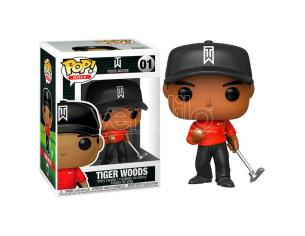 Tiger Woods Funko POP Golf Vinile Figura Tiger Woods con Maglia Rossa 9 cm