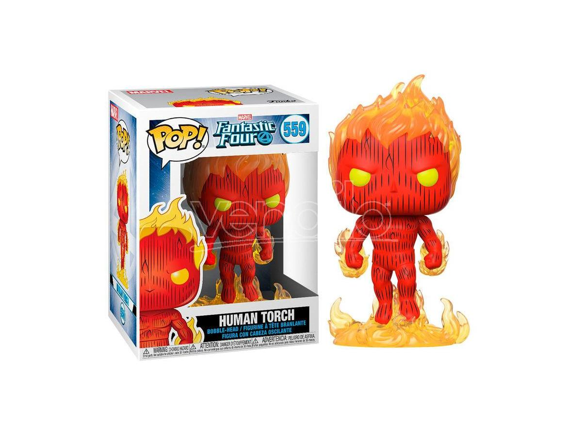Pop Figura Marvel Fantastic Four Human Torch Funko