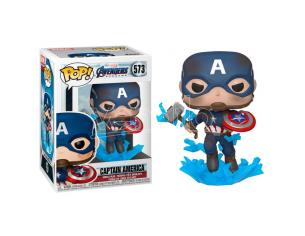 Pop Figura Marvel Avengers Endgame Captain America Con Broken Shield & Mjolnir Funko