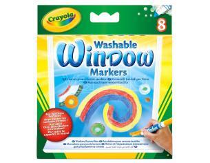 Crayola Washable Window Set Pennarelli 8 Crayola