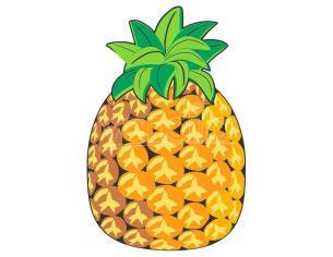 Pineapple microfiber round beach towel