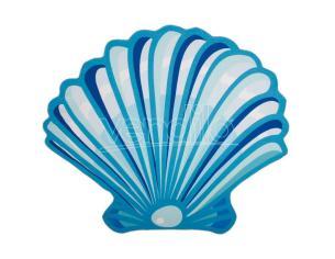 Shell microfiber round beach towel