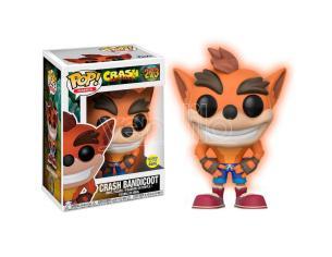 Crash Funko Pop Figura Crash Bandicoot (si illumina al buio) 9 cm Esclusiva
