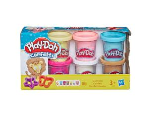 Play-Doh Kitchen Confetti set 6 cans Play-doh