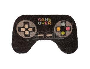 Game Over shaped door mat