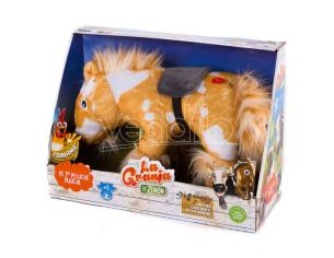 The Zenon Farm Horse Percheron Peluche Con Suono Bandai