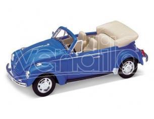 Welly WE1208 VW BEETLE CONVERTIBLE 1970 BLUE 1:24 Modellino