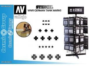 STENCIL STAFV001 WWII GERMAN TANK MARKS ACCESSORI PER MODELLISMO VALLEJO