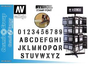 STENCIL STLET002 STAMP FONT ACCESSORI PER MODELLISMO VALLEJO