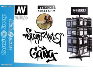 STENCIL STLET004 STREET ART 2 ACCESSORI PER MODELLISMO VALLEJO